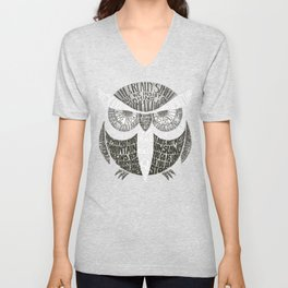 Wise Old Owl Says Unisex V-Neck