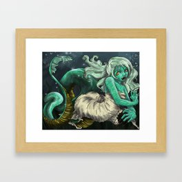 Sea Snake Woman Framed Art Print
