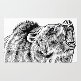 Howling Grizzly Rug