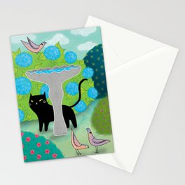 Cat Versus Pigeons Stationery Cards