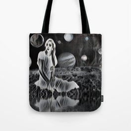 The Ghost of a Goddess, Ghostly Planetary Smoke of Dreams Tote Bag