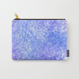 Bright Blue Purple Abstract Painting Carry-All Pouch