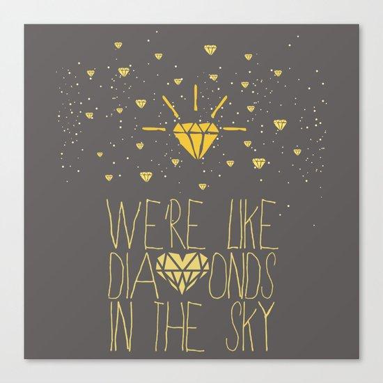 bright like a Diamond Canvas Print