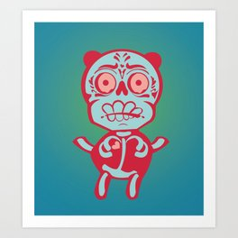 Panda Skeleton Art Print