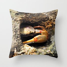 Why So Crabby? Throw Pillow
