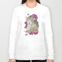jaguar Long Sleeve T-shirts featuring Jaguar by Kyra Kalageorgi