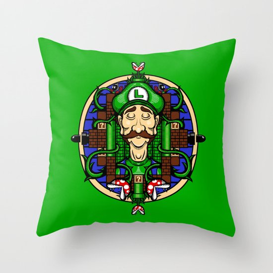 Luigi's Lament Throw Pillow