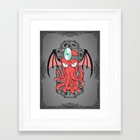 zoidberg Framed Art Prints featuring The Call Of Zoidbergthulhu by Omega Man 5000