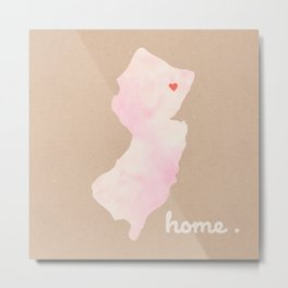 Northern New Jersey Watercolor Art Print Metal Print