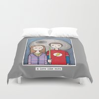 bazinga Duvet Covers featuring ShAmy by ajd.abelita