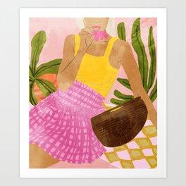 Flower Talk #illustration #painting Art Print