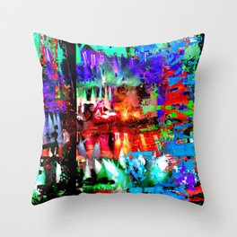 Caspian Limelight Throw Pillow