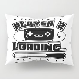 Player 2 Loading Baby Announcement Pregnancy Gift Pillow Sham