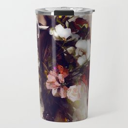 The girl with the flowers in her hair Travel Mug