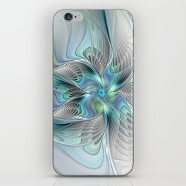 Abstract Butterfly, Fantasy Fractal Art iPhone Skin