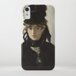 Edouard Manet - Young woman in a black hat iPhone Case