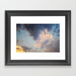 Streaked Framed Art Print