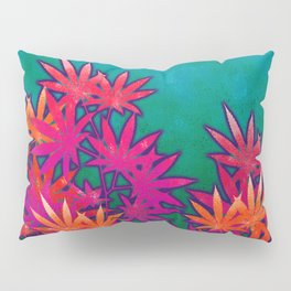 Turquoise Cannabis Field Pillow Sham