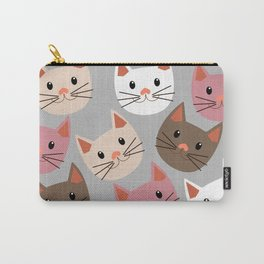 Cute Cat Faces Carry-All Pouch