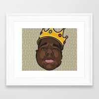 notorious big Framed Art Prints featuring Notorious by DollarsandCents