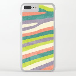 Fruit Stripes. Clear iPhone Case