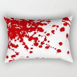 Red Splatter Rectangular Pillow