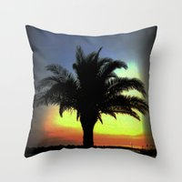 palm Throw Pillows featuring Palm by Chris' Landscape Images & Designs