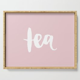 Pink Tea Serving Tray
