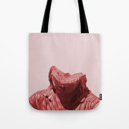Shy red girl Tote Bag