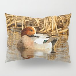 Eurasian Wigeon at the Pond Pillow Sham