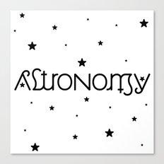 Astronomy Ambigram Canvas Print