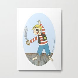 Me Hearty.... You Metal Print