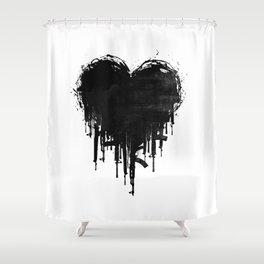 Dark Heart Shower Curtain