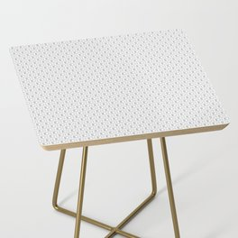 HD Soap Black Tiled on White Side Table