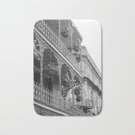 New Orleans Architecture - Black & White Photography Bath Mat