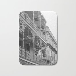 New Orleans Architecture - Black & White Photography Bath Mat
