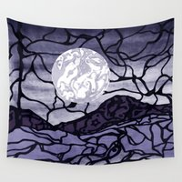 cracked Wall Tapestries featuring Cracked by Mel Moongazer