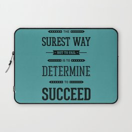 Lab No. 4 The Surest Way to Richard Brinsley Sheridan Inspirational Quote Laptop Sleeve