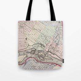 Vintage Map of Richmond Virginia (1884) Tote Bag