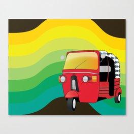 Tuk Tuk: Ride Waves of Color Canvas Print