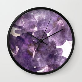 Purple Blossoming Wall Clock