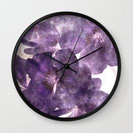 Purple Blossoming Wall Clock