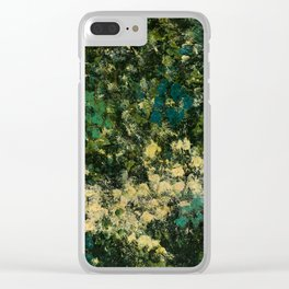 Garden (Green Abstract) Clear iPhone Case