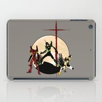 evangelion iPad Cases featuring Neon Genesis Evangelion - Hill Top by kamonkey
