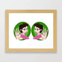 Hello Goode Bye Framed Art Print