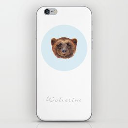 Wolverin (e) portrait iPhone Skin