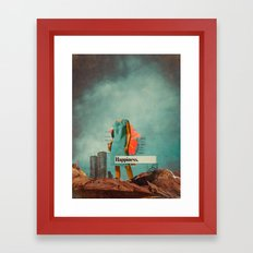 Happiness Here Framed Art Print