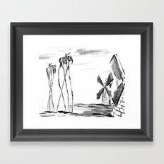 Tilting at Windmills Framed Art Print