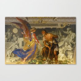 With the grace of God and the effort of will we obtain the excellence of virtue Canvas Print