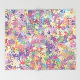 Colorful patterned background Throw Blanket